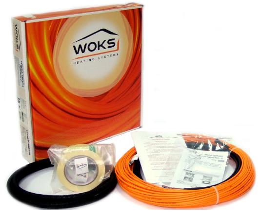 Фото  1 Тонкий нагревательный кабель Woks-10 1400Вт, 9,3-17,5м.кв., Одескабель (Украина) 1885097