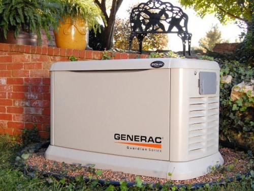 Однофазный газовый генератор GENERAC 5914 c двигателем GENERAC GH-410 OHVI