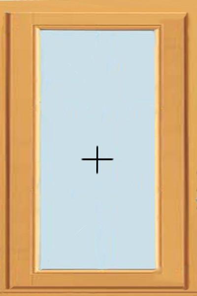 Одностворчатое, глухое деревянное окно (от 600х1200 мм)