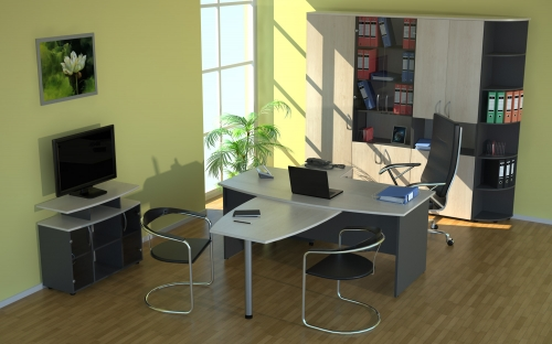 Офисная мебель для персонала по индивидуальным проектам.