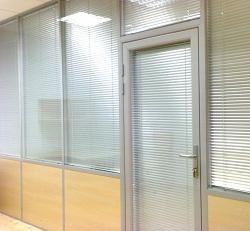 Офисные перегородки алюминиевые с комбинированным наполнением