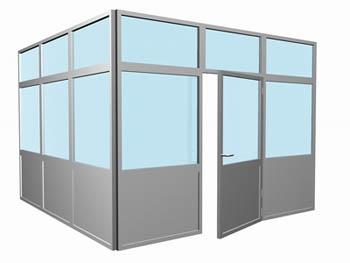 Офисные перегородки. Алюминиевые перегородки Alumil (Греция)
