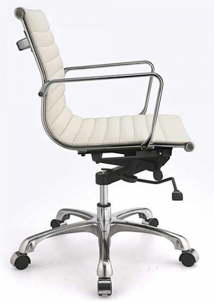 Офисное кресло руководителя дизайнерское Алабама, цвет белый