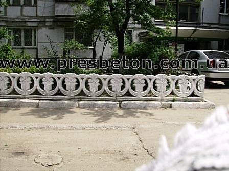 Оградка бетонная для палисадника. 1000*600*60