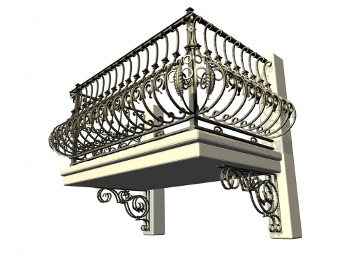 Ограждение балкона.