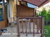 Фото  1 Огорожа для тераси з ДПК Імпрес колір горіх, каштан, графіт в комплекті варіант 1 2303839