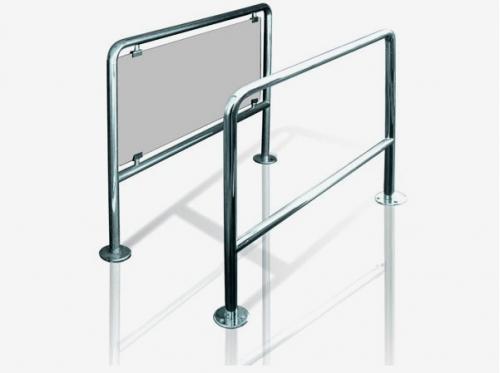 Ограждение для турникетов со стеклом и без стекла, секция от 500 до 2000 мм.