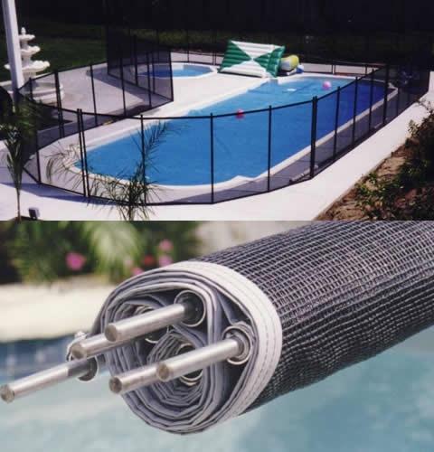 Ограждение защитное мобильное для бассейна