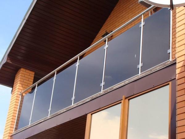 Ограждения террасы нержавейка стекло монолитный поликарбонат