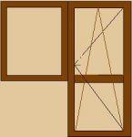 Окна и двери балконные деревянные. Сосновый евробрус, стеклопакет 1-камерный энерго, балконная защелка.