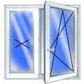 Окна пластиковые (ПВХ). Окно KBE с установкой 1300х1400мм