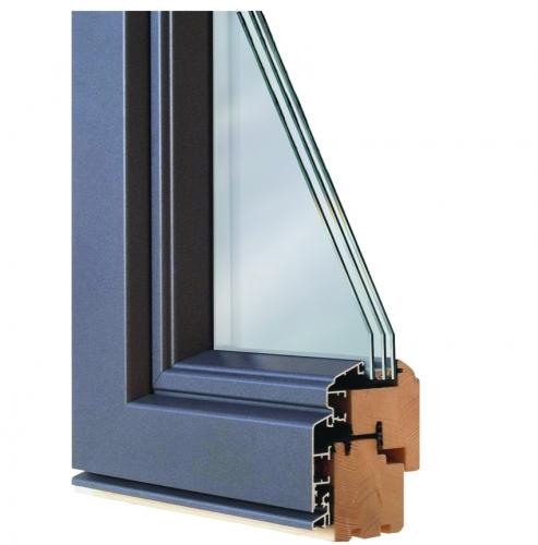 Окна Rein Holz Holz-alu из натуральной древесины, с защитными алюминиевыми накладками по всей наружной поверхности окна