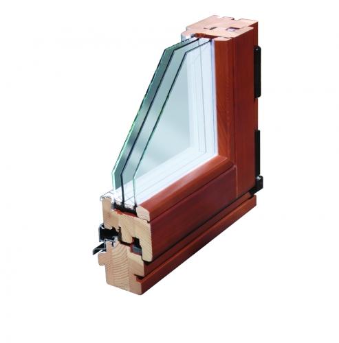 Окна Rein Holz Rationell из натуральной древесины, с защитными алюминиевыми накладками