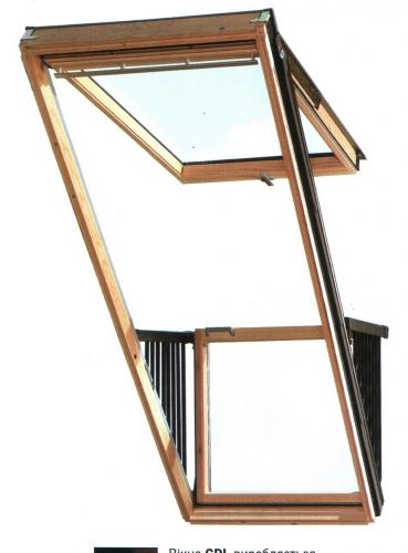 Окно-балкон VELUX GDL CABRIO