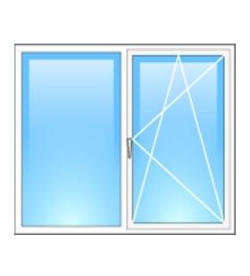 Окно металлопластиковое Rehau двухстворчатое 1300*1400мм, фурнитура Maco (Австрия)