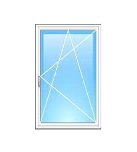 Окно металлопластиковое Steko одностворчатое 800*1400 мм, фурнитура ROTO (Германия)
