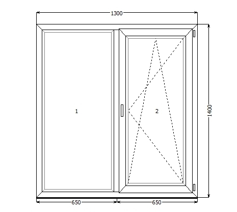 Окно VEKA SoftLine 1300*1400, фурнитура MACO(Австрия), стеклопакет 24 мм