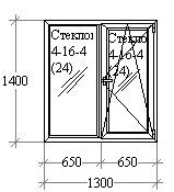 Оконный блок 1300х1400 Aluplast, Roto
