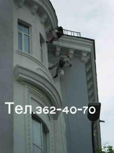 Окраска фасада. Только работа. Киев.
