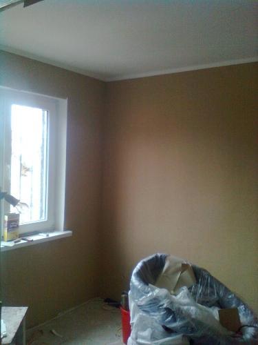 окраска стен и потолков, оклейка обоями
