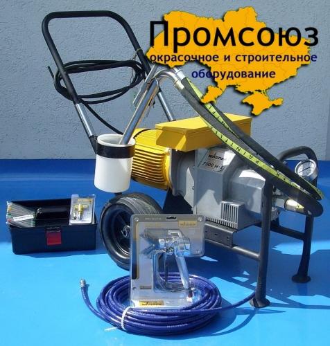 Окрасочное оборудование АВД Wagner (Вагнер) 7000 Максимальное раб. давление, бар. - 250 • Подача насоса, л/мин. – 5.6 •