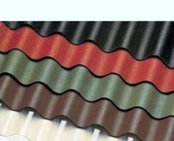 Ондулин гвозди (20шт). Размер листа 2х095м. Цвет красный, коричнеый, зеленый.