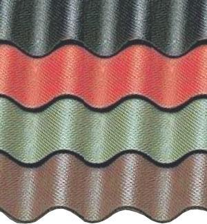 Ондулин на складе в Харькове. Осуществляется доставка. Цветовая гамма ондулина:коричневый , зеленый, красный.