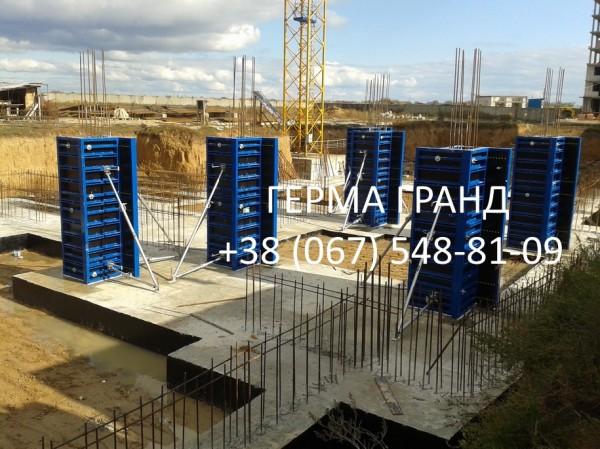 Опалубка колонн (рамная опалубка, балочная опалубка, круглые колонны)