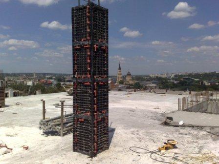 Опалубка квадратных колонн 400Х400мм высота 3м