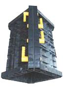 Опалубка квадратной колонны 30х30 см., h=3м, пластиковая