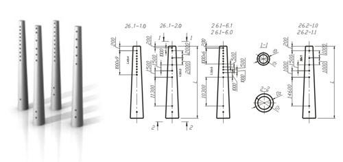 Опора линий электропередач СК 22.2-1.0