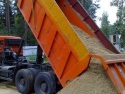 Оптово-розничная продажа мытого песка (Вознесенские карьеры). От 25 тонн. Цена указана с учетом доставки.