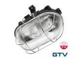 Фото  1 Влагостойкий светильник с металлической решеткой GTV SANGUESA 1xE27 IP44 ABS/PC, черный 1438368