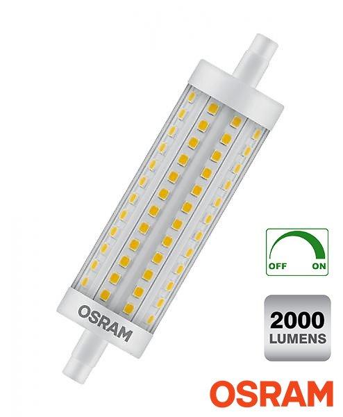 Фото  1 Диммируемая прожекторная лампа J118 OSRAM R7s LED 15Вт 2000Лм с теплым светом 1919234