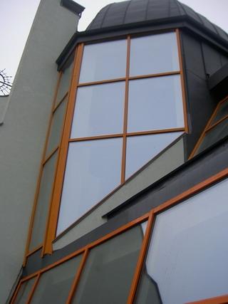 Остекление фасада из алюминиевого профиля