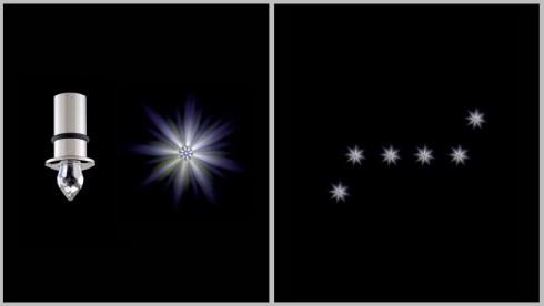 Осветлительная система ANIMA 6 звезд, на основе светодиодов
