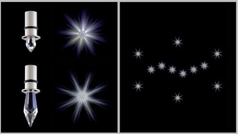 Осветлительная система DESIRE 12 звезд, на основе светодиодов