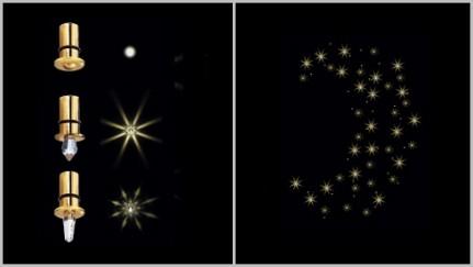 Осветлительная система GALAXY 70 звезд (волокно 3 м), на основе оптоволокна