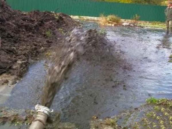 Откачка воды с подвалов, помещений