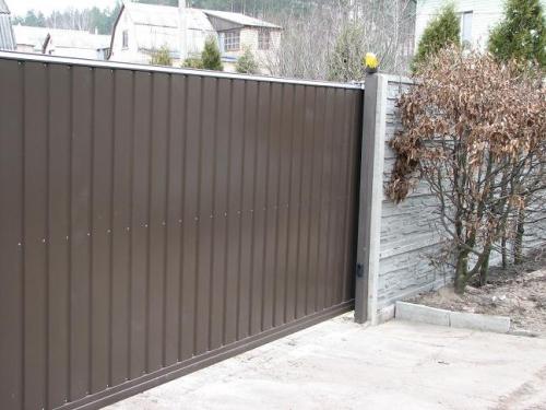Откатные ворота 3250х1800, обшивка с двух сторон