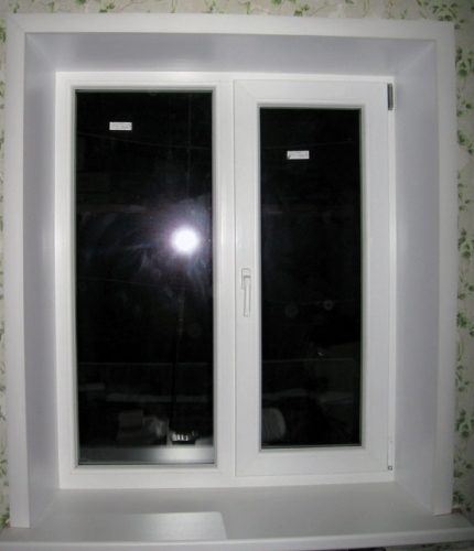 Откосы из сэндвич-панели на окно 1300х1400 Подробный калькулятор цен на сайте http://www. oknatut. com. ua