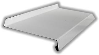 Отлив оцинкованный с порошковым покрытием и защитной пленкой, цвет - белый, коричневый.