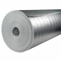 Отражающая изоляция Теплоизол 3 мм (полотно ППЕ, дублированное металлизированной пленкой).