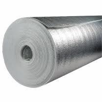 Отражающая изоляция Теплоизол 8 мм (полотно ППЕ, дублированное металлизированной пленкой).