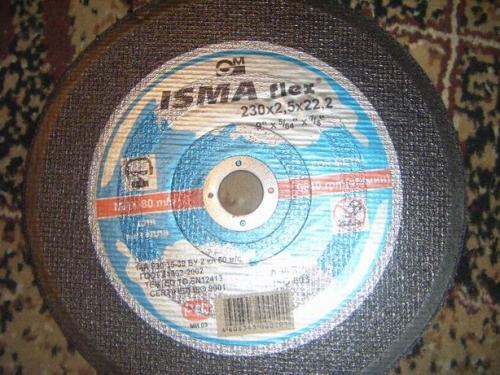 Отрезные круги на бакелитовой связке для резки металла ИСМА (Российская федерация)