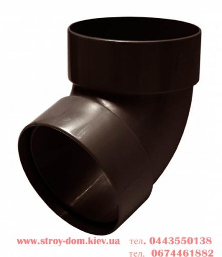 Отвод двухмуфтовый 67 грд. водосточной системы Rainway 130 белый, каричневый, красный, зелёный, серый, кирпичный.