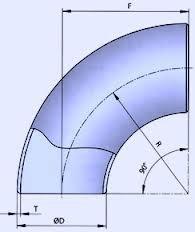 Отвод крутоизогнутый стальной ДУ 1020х14