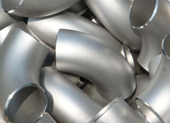 Отвод нержавеющий (колено) 90 градусов 129мм 129х2мм (R=128,0мм) пищевой AISI 304 матовый