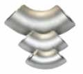 Отвод нержавеющий, марка стали 12Х18Н10Т, бесшовный, крутоизогнутый, ГОСТ 17375-83, радиус изгиба R=1,5xD: 89х5.