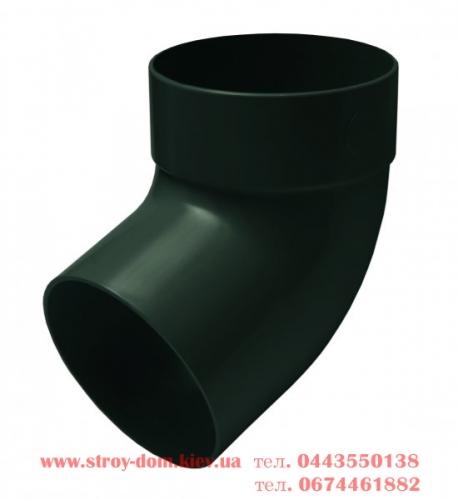 Отвод одномуфтовый 67 грд. водосточной системы Rainway 130 белый, каричневый, красный, зелёный, серый, кирпичный.